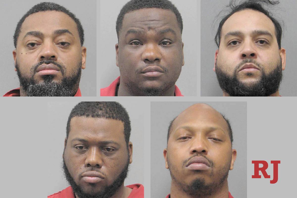 5 men arrested in Henderson after string of ATM thefts | Las Vegas Review-Journal