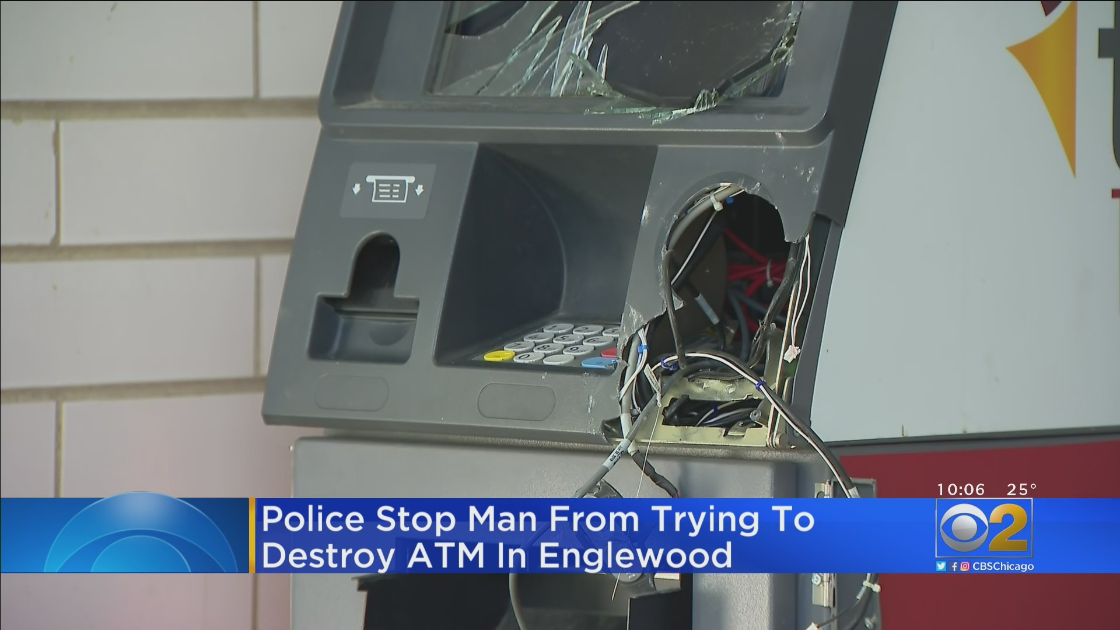 Man Caught Trying To Smash Open ATM In Englewood, Police Say – CBS Chicago