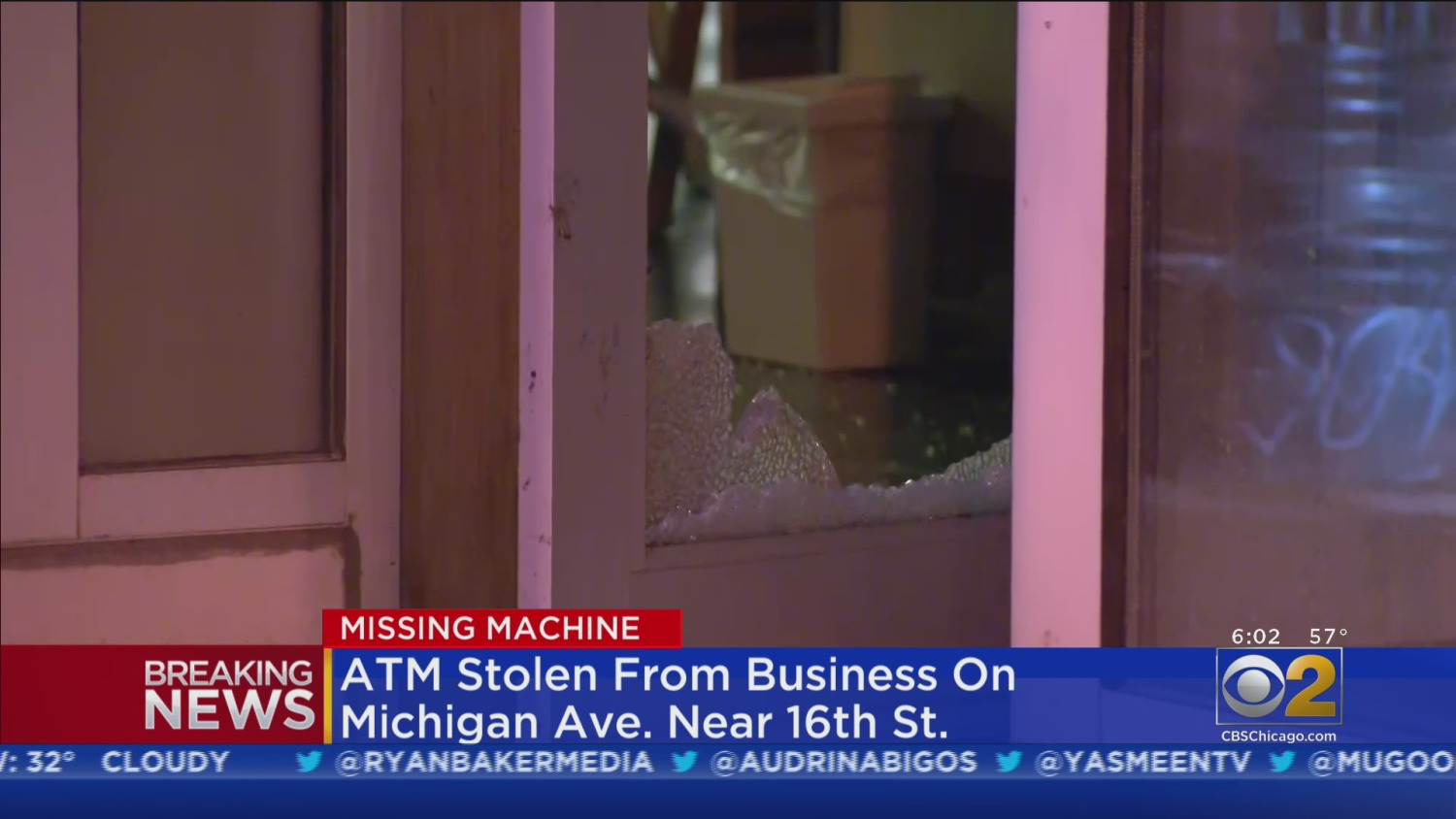 Thieves Break Into Two South Loop Businesses; Steal ATM, Cash Register, Merchandise – CBS Chicago
